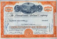 Pennsylvania Railroad Company Stock Certificate Horseshoe Curve Orange