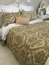 EXQUISITE DOUBLE SIZE QUILT 100% COTTON REVERSIBLE QUILTED BEDSPREAD FRENCH STYL