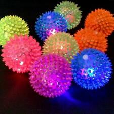 Flashing Light Up Spikey High Bouncing Balls Novelty Hedgehog Ball Dog Kids Gift
