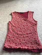 Jane Norman Top Maroon Coloured With Lurex Decoration