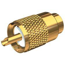 CB RADIO ANTENNA COAX CONNECTOR SOCKET ADAPTER GOLD RG58 PL259 6mm UHF 50 OHM X1