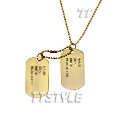 TT ID Vintage Copper Double DOG TAG Engravable NEW (DT47)