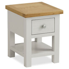 Farrow Painted Side Table / Small Stone Painted Lamp Table with Drawer / New