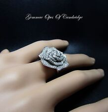 10ct White Gold Rose 1ct Diamond Ring Size N 9g