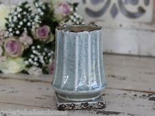 Chic Antique Blumentopf Übertopf Pokal Landhaus Flowerpot antikisiert opal Deko