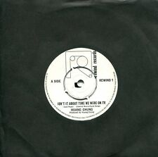 """rare New Wave 7"""" HUANG CHUNG -Isn't It About Time We Were On TV (UK,Rewind,1980)"""