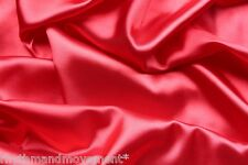 Red Polyester Satin Fabric 1 Metre X 112cm Dance Costumes Skirts