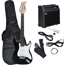 Full Size Electric Guitar w/ 10 Watt Amp Gig Bag Case Guitar Strap for Beginners