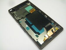 LCD display+touch screen+Frame For Sony Xperia Z C6602 C6603 L36H LT36i (Purple)
