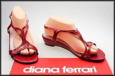DIANA FERRARI WOMEN'S RED PATENT LEATHER SANDALS SHOES SIZE 8.5
