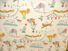 """3 Metres """"ROLL UP CIRCUS""""Curtain Upholstery Quilting Craft Childrens Fabric"""