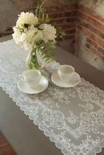 """Heritage Lace 14""""x 36"""" DOWNTON ABBEY GRANTHAM White Table Runner"""