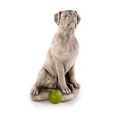 sitzender Boxer Tierfiguren Steinfiguren Skulpturen Gartenfiguren Hund 622848
