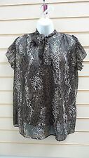 LADIES  ANIMAL PRINT EVENING TUNIC TOP WITH CAMISOLE HIP LENGTH SIZE14 BNWT