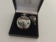 AE Williams Pewter Pocket Watch Mechanical Skeleton. Archibald Knox  Made in UK