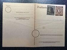 """337 Postkarte - Ganzsache """" Deutsche Post"""" 10 ungelaufen & 2Pfennig drauf!"""