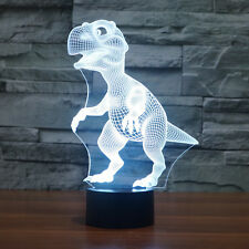 Creative 3D Dinosaur Touch Control Night LED Desk Table Light Lamp 7Color Change
