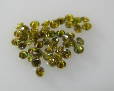 1.5mm 0.07cts 5pc Green Yellow SI Clarity Natural Loose Brilliant Cut Diamond