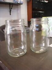 LIBBEY DRINKING JAR MUGS HOT NEW CRAZE GLASS SET OF 2 473ml COMMERCIAL NO HANDLE