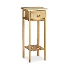 Telefontisch Walnuss Beistelltisch mit Schublade Konsolentisch Blumentisch