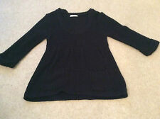 Ladies Black Knitted Top Size 12