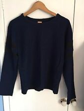 Zara Navy & Black Ladies Knit Jumper Size S