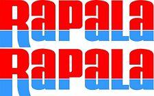 Rapala split colour stickers 2 x 550 x 170 Red / blue Avery Marine grade