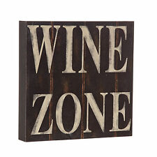 Shabby Chic Vintage Wooden Wine Zone Bar Pub Home Decoration Gift Plaque Sign