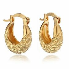 18K Yellow Gold Filled Women Jewelry Small Hoop Earrings 067
