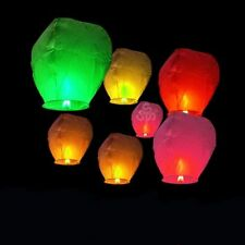 Lot 10X Chinese Flying Lanterns Fire Light Wishing Kong Ming Lamp Outdoor Party