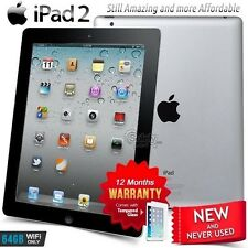 New in Sealed Box APPLE iPad 2 II A5 CPU 64GB Black PC Tablet (Wifi Only)