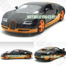 Bugatti Veyron Limited Edition 1:24 Diecast Alloy Model Car Orange&Black Instock
