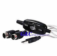 MIDI USB Cable Converter PC to Music Keyboard Adapter M97