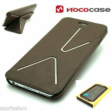 HOCO LEATHER SLIMFIT FASHION MAGNETIC STAND WALLET CASE FOR iPHONE 6 & 6S  BROWN