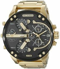 Diesel Original DZ7333 MR DADDY 2.0 Gold Multiple Time Zone Chronograph Watch !