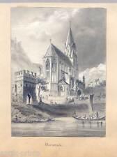 Bleistiftzeichnung  - Oberwesel um 1840
