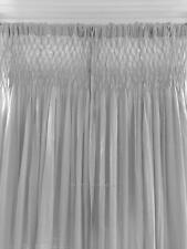 Hamptons Grey Smocked Shabby Rod Pocket Window Curtains Drapes 100% Cotton New