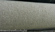 100% WOOL BERBER Beige carpet remnant Action back 4.5m x 5m **FREE DELIVERY**