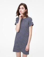 Joules Riviera Jersey T shirt Dress in Hope Stripe French Navy Size 20