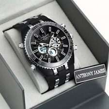 1 Day Designer Watch Auction! Anthony James Men's,Tag, Box & Warranty SRP£425