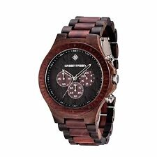 Men's Watches 5ATM Waterproof Wooden Watch Chronograph Multifunction Wood Watch