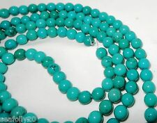 """1 x 16"""" strands x 10mm round Genuine Natural Turquoise Beads - free post"""