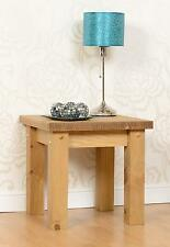 Tortilla Chunky Corona Side End Lamp Table Solid Wood Mexican Pine