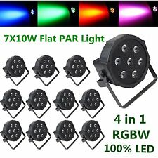 12PCS LED DJ Par 70W 4in1 RGBW PAR64 DMX Disco Club Party Wedding Stage Lighting