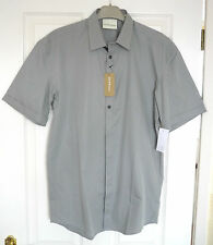"PURE DKNY (£130RRP) Mens Size Small (38"") Short Sleeved Shirt - Dove Grey - BNWT"
