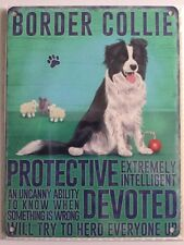 Vintage Style Metal Wall Kitchen Sign Retro Border Collie Dog Lovers Gift