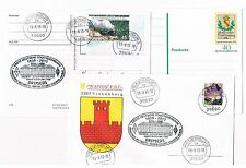 2 Belege KARTE/Brief mit  Privatstempel 175 Jahre BAHN-Bahnhofsfes Vienenburg