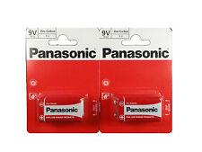 2 X Single Pack Panasonic PP3 - 1BP 9V Size Batteries (2 Pcs)