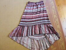 LADIES BEAUTIFUL MULTI COLOURED STAGGERED LENGTH SKIRT BY KATIES - SIZE 8