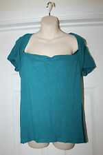 Ladies Green M&Co Top Size 20 Stretchy Summer